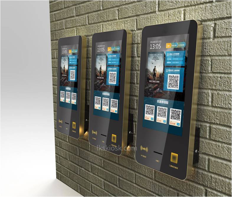 21.5 inch Wall Mounted Digital Innovative And Smart , Multifunctional Card Dispenser Kiosk by LKS,China
