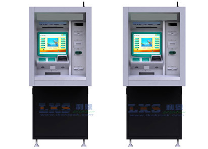 Through - Wall Payment Terminal Kiosk With Check Cashing ATM Machines