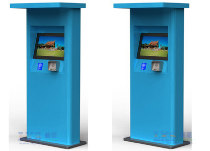 Waterproof Free Standing Self Ordering Kiosk With Mutil Payment Function