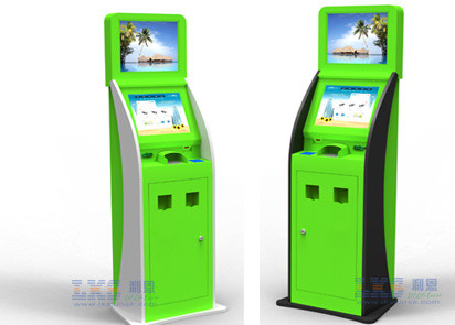 Dual Screen Multi-functional Payment Kiosk For Mobile Phone With Ticket Printer Kiosk