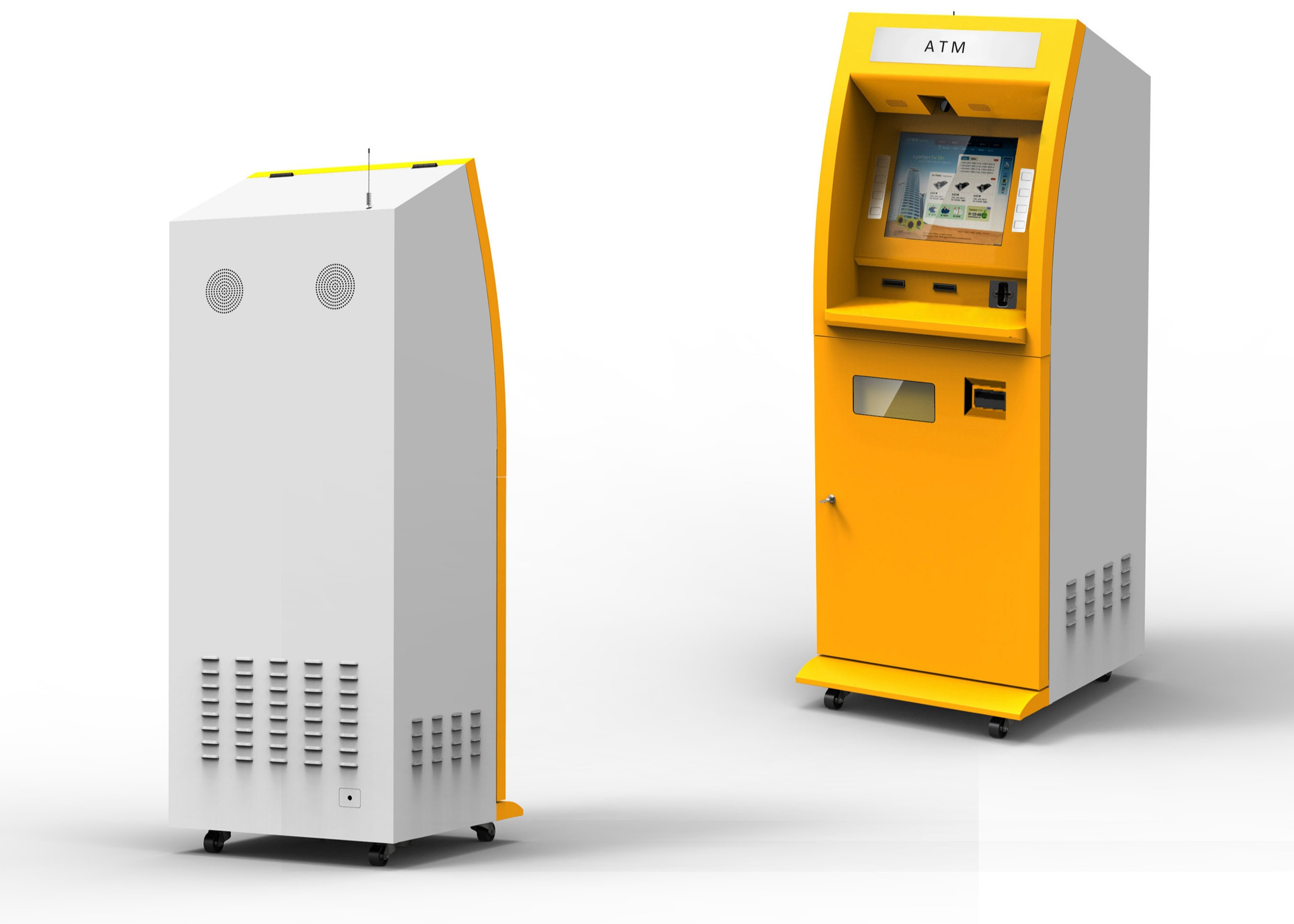 Dual Screen Digital Photo Printing Kiosk With OMR Scanner Coin Acceptor