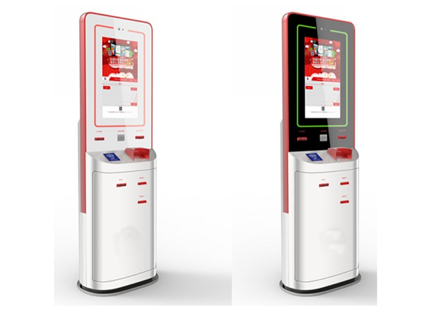 Custom High Resolution Bill Payment Kiosk With Coin Acceptor / Cash Payment